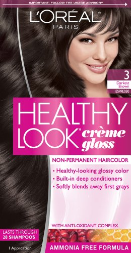 L'Oreal Paris Healthy Look, 3 Darkest Brown/Espresso