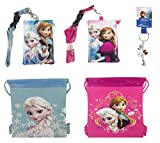 Disney Frozen Drawstring Set with Lanyards and Keychain