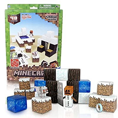 Minecraft Papercraft Snow Set New from Home Comforts