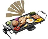 Shef Electric Large Teppanyaki Style Barbecue Table Grill Griddle 2000 Watts