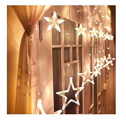 Homdox LED星イルミネーションライト 屋内外装飾用 ガーデン、ホームズ、結婚式、クリスマスパーティー 飾りスター (ホワイト)
