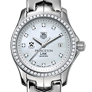 Princeton University TAG Heuer Watch - Women's Link Watch with Diamond Bezel