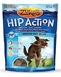 Zuke\'s Hip Action Dog Treats, Beef Recipe, 6-Ounce