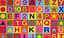 3X5 Rug Educational Alphanumeric Abc & Numbers Kids School Size 39\