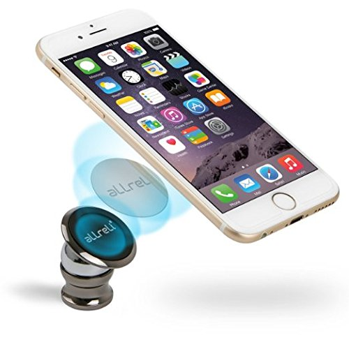 Magnetic Phone Holder, aLLreLi Magnetic Car Mount Holder for iPhone 6, 6S, SE, 6 Plus, 6S Plus, iPhone 5, 5S, Galaxy S5, S6, S7, S6 Edge, Note 3, 4, 5, Fits All Smartphones (Console Phone Holder compare prices)