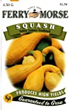 Ferry-Morse 1377 Squash Seeds, Yellow Summer Crookneck (4.5 Gram Packet)