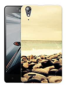 """Humor Gang Rocks And Beach Printed Designer Mobile Back Cover For """"Lenovo A6000 - A6000 PLUS"""" (3D, Matte, Premium Quality Snap On Case)"""