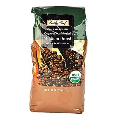 Daily Chef Organic Decaffeinated Medium Roast Coffee, Wholebean (2.5 lb.)