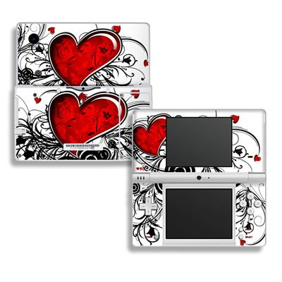 My Heart Design Decorative Protector Skin Decal Sticker for Nintendo Dsi