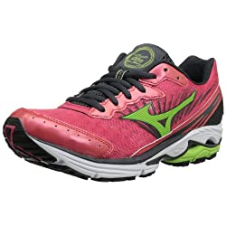Funny product Mizuno Women's Wave Rider 16 Running Shoe,Rouge Red/Apple Green/Dark Shadow,7 2A US