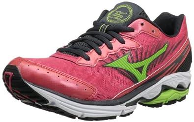 Mizuno Women's Wave Rider 16 Running Shoe,Rouge Red/Apple Green/Dark Shadow,6 2A US
