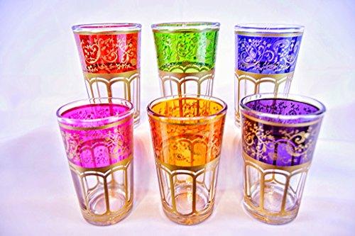 New Moroccan Tea Glasses Tangier Set Of 6