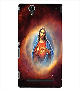 PrintDhaba Lord Jesus D-3751 Back Case Cover for SONY XPERIA T2 ULTRA (Multi-Coloured)