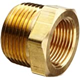 "Merit Brass Lead Free Pipe Fitting, Hex Bushing, 3/4"" NPT Male X 1/4"" NPT Female"