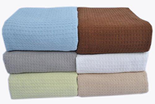 Sage All Season Throw Blanket Chevron Design Full Queen Size 90