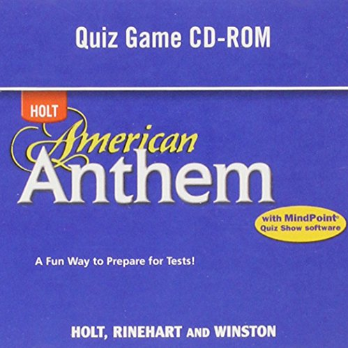 Holt American Anthem: Quiz Game CD-ROM Grades 9-12