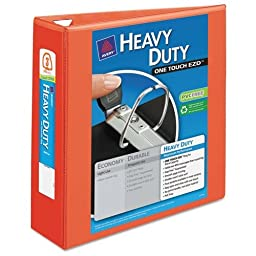AVE17556 - Heavy Duty Nonstick View Binder w/Locking 1 Touch EZD Rings