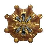 ソフトスパイク (Soft spikes) パルサー PINS (20個入) (ADIDAS・PUMA適合品) スパイク鋲 US純正品 SS02-PINS (ゴールド×シルバー)