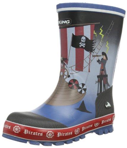 Pirates, Unisex-Kinder Langschaft Gummistiefel, Blau (Navy/Multi 550), 22 EU