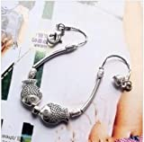 Ethnic silver bracelet hand chain jewelry wholesale retro Chinese style new hot kissing fish bracelet hand chain B0084 Ping