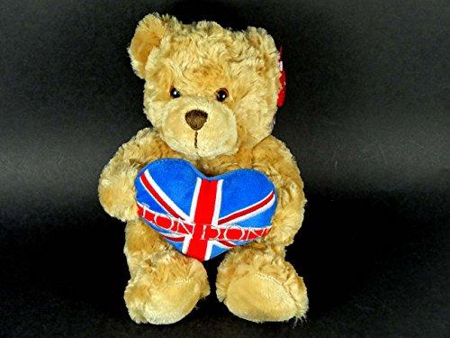 Teddy Bär-Teddie hält ein Herz mit Union