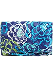 Gorgeous Vera Bradley All Wrapped Up Jewelry Roll in Katalina Blue