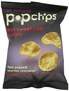 Popchips, Thai Sweet Chili, 0.8-Ounce Single Serve Bags (Pack of 24)