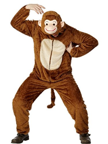 Smiffys Monkey Costume, Includes Jumpsuit With H