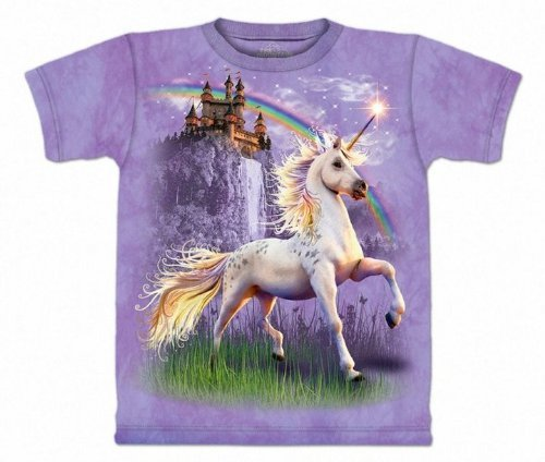 The Mountain Unicorn Castle Purple T-shirt XL