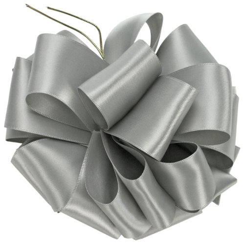 Offray Single Face Satin Craft Ribbon, 7/8-Inch by 100-Yard Spool, Silver