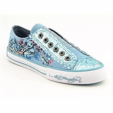 Amazon.com: Ed Hardy Lowrise Glitter Shoe for Women -Light Blue