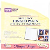 "Strap Hinge Refill Pages 12""x12""-white 10/pkg"