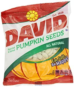 David Seeds Pumpkin Seeds, 5-Ounce Bags (Pack of 12)