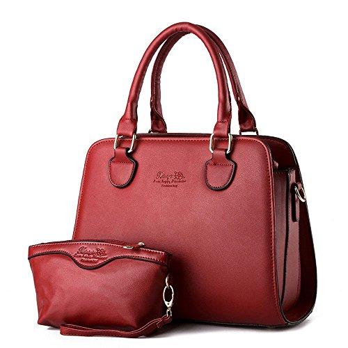 koson-man-2-in-1-borsa-tote-bags-maniglia-superiore-rosso-rosso-kmukhb243