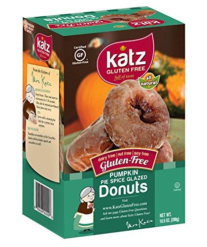 Katz Gluten Free Pumpkin Spice Donuts, 10.5 Ounce, Certified Gluten Free - Kosher - Dairy, Nut & Soy free - (Pack of 1) (Best Gluten Free Bread compare prices)