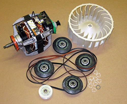 Major Appliances COMBO12 279787 Dryer Motor 4392067 Belt Kit 697772 Wheel for Whirlpool Kenmore (Dryer Motor 3395654 compare prices)