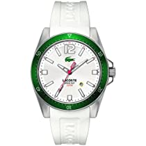 Lacoste Seattle White Dial White Silicone Rubber Mens Watch 2010664