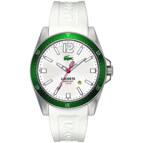 Lacoste 'Seattle' Aluminum Bezel Silicone Strap Man's Watch