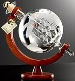 イタリア・ロッシダシアーゴ社 グラッパ【帆船球/Mondo Legno con Veliero】大きな地球儀のデキャンタ