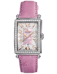 Gevril Women's 7248RL.10A Pink Mother-of-Pearl Genuine Ostrich Strap Watch