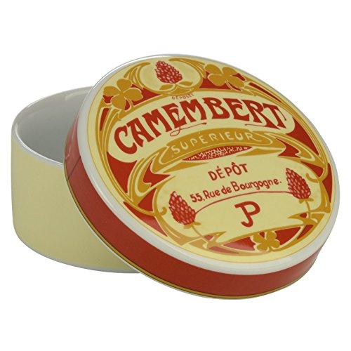 BIA Vintage à camembert Baker et housse, crème/rouge, lot de 2