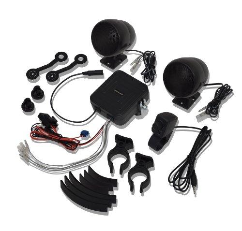 Big-Bike-Parts-13-250BK-Black-Stereo-Sound-System