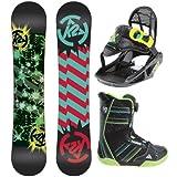 K2 Mini Turbo Grom Pack Snowboard 120 w  Boots Bindings Youth Sz 5 by K2