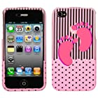IPHONE 4 4S AT&t SPRINT VERIZON C-SPIRE BABY GIRL 3D CRYSTAL CLEAR RUBBERIZED SNAP ON COVER CASE - PERFECT FIT