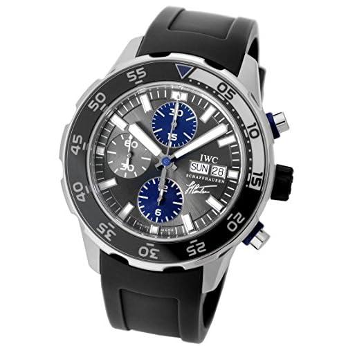 [アイダブリューシー] IWC 腕時計アクアタイマークロノグラフ クストー・ダイバーズ グレー/ネイビーインダイアル IW376706 自動巻き メンズ [中古品]