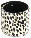 """Streets Ahead 2.5"""" Italian Hair Calf Cuff Bracelet with Cheetah Print"""