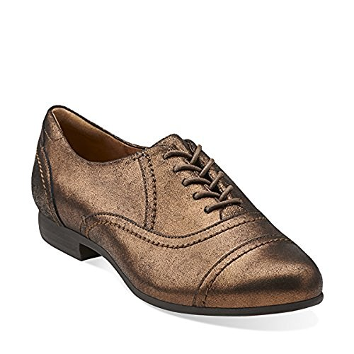 pictures of Clarks Women's Charlie Cap Oxford,Copper,9.5 M US