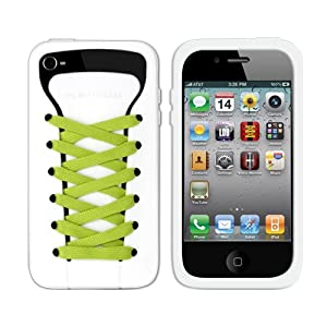 iShoes Silicone Case For iPhone 4/4S - Original - WHITE