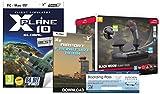 X-Plane 10 Global Best Of + Speedlink Black Widow Flight Stick + Airport Frankfurt-Hahn Download Boarding Pass (Mac/PC DVD)