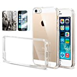 [AIR CUSHION] Spigen Apple iPhone 5S / 5 Case **New Release** ULTRA HYBRID [Crystal Clear] [1 FREE Premium Japanese Screen Protector + 2 FREE Graphics] Bumper Case with Scratch Resistant Clear Back Panel + Air Cushion Technology Corners for iPhone 5S / 5 - ECO-Friendly Package - Crystal Clear (SGP10640)